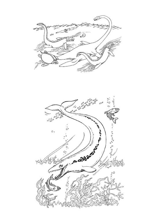 P 225 Gina Para Colorir Dinossauros Marinhos Img 9108
