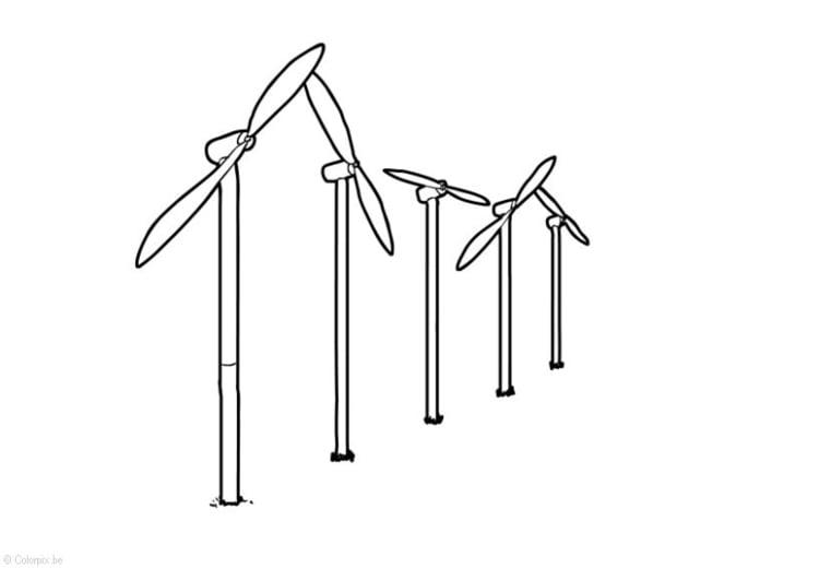 Página Para Colorir Energia Eólica