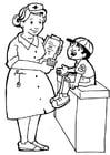 Página para colorir enfermeira