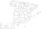 Página para colorir Espanha - províncias