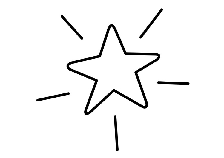 Página Para Colorir Estrela