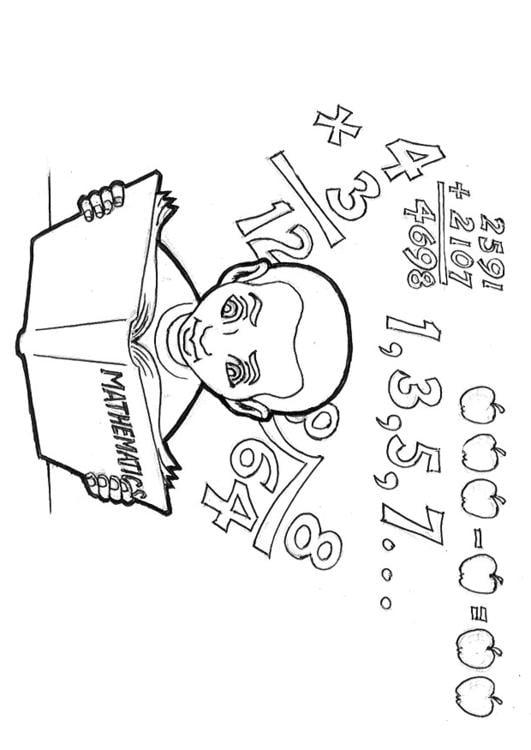 Desenho Para Colorir Estudando Matematica Imagens Gratis Para
