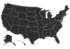 Página para colorir EUA