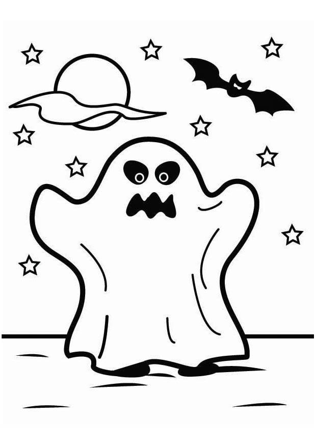 Página para colorir fantasma de Halloween - img 26451.