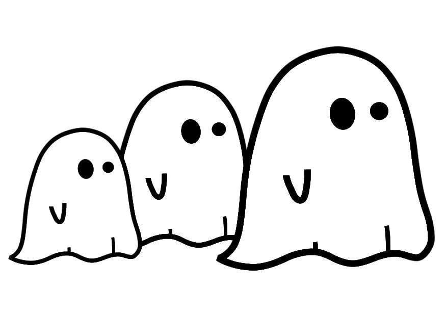 P gina para colorir fantasmas