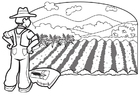 Página para colorir fazendeiro