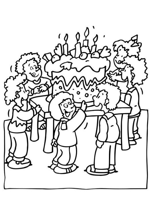 Verzierter Geburtstagskuchen also Stock Illustration Fireworks Celebration Vector Icon together with Free Printable Happy Birthday Coloring Pages likewise Paginas Para Colorir Festa De Aniversario I6561 also Un Nino Soplando Sus Velas De Cumple. on happy anniversaire