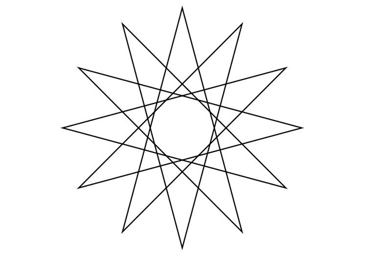 Página Para Colorir Figura Geométrica
