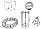 Página para colorir figuras geométricas