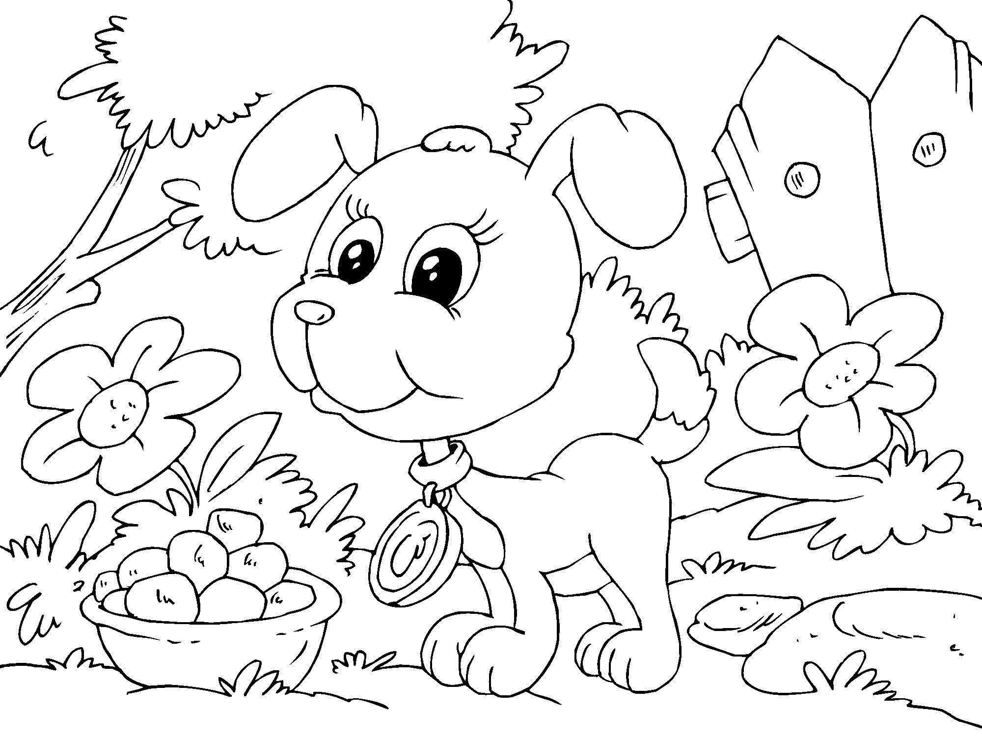 Página Para Colorir Filhote De Cachorro