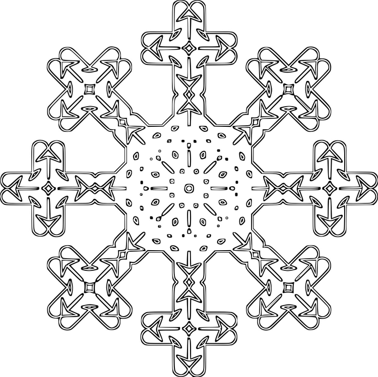 página para colorir floco de neve img 16121