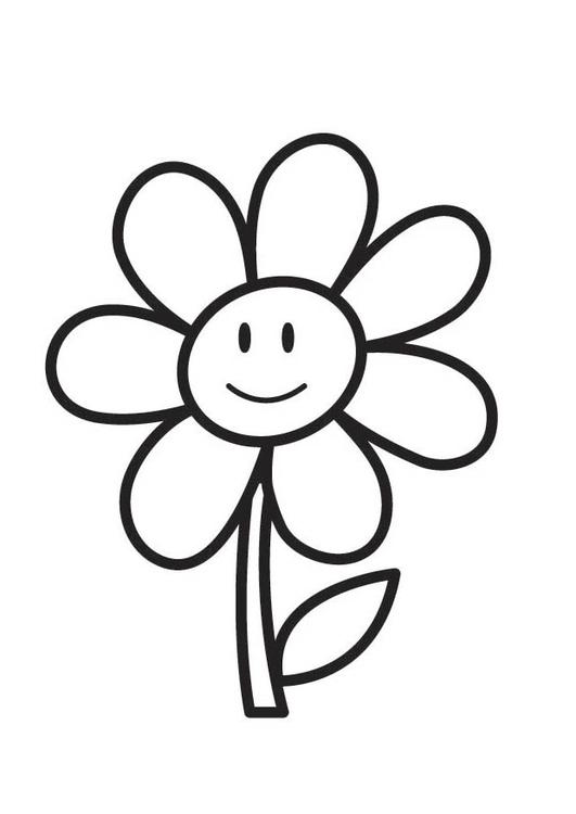 página para colorir flor img 18354