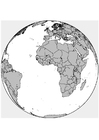 Página para colorir África - Europa