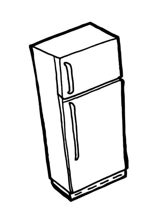 P gina para colorir geladeira com freezer img 19040 for Como dibujar una cocina