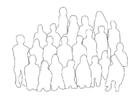 Página para colorir grupo de pessoas - classe