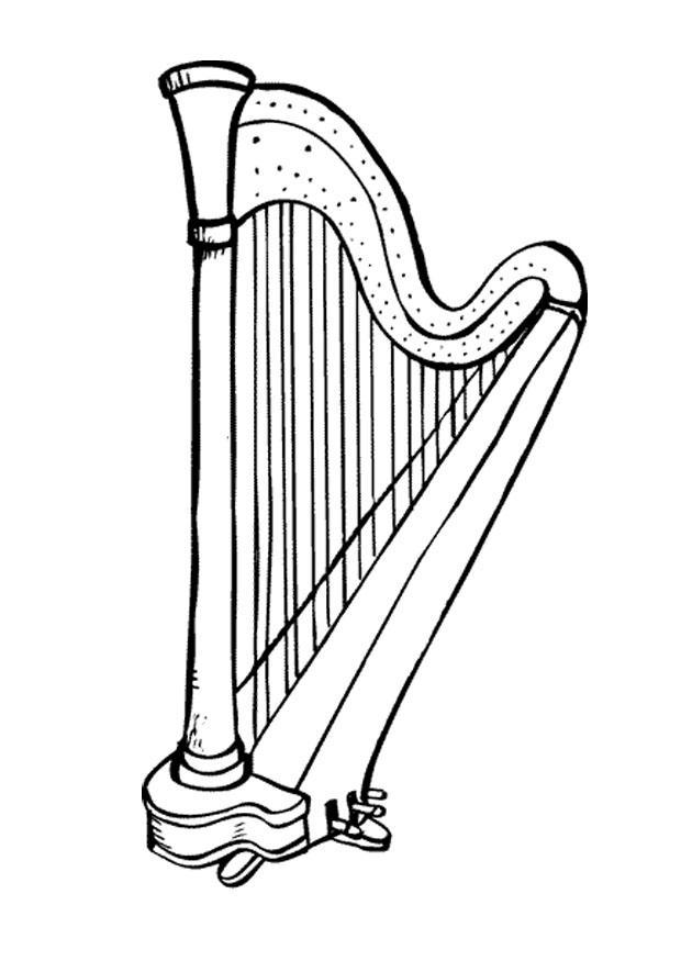 P gina para colorir harpa img 9584 - Pagina da colorare di una bibbia ...