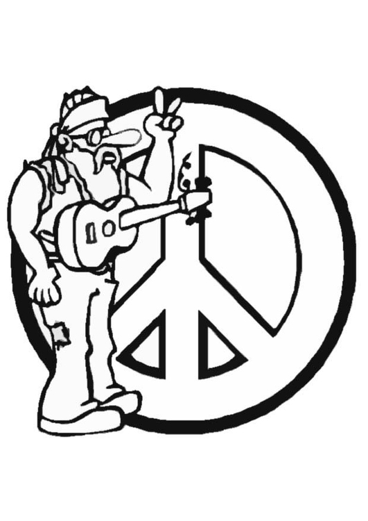 Desenho Para Colorir Hippie Imagens Gratis Para Imprimir