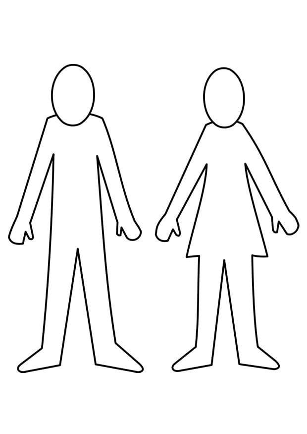 Página para colorir homem e mulher - img 21995. Images