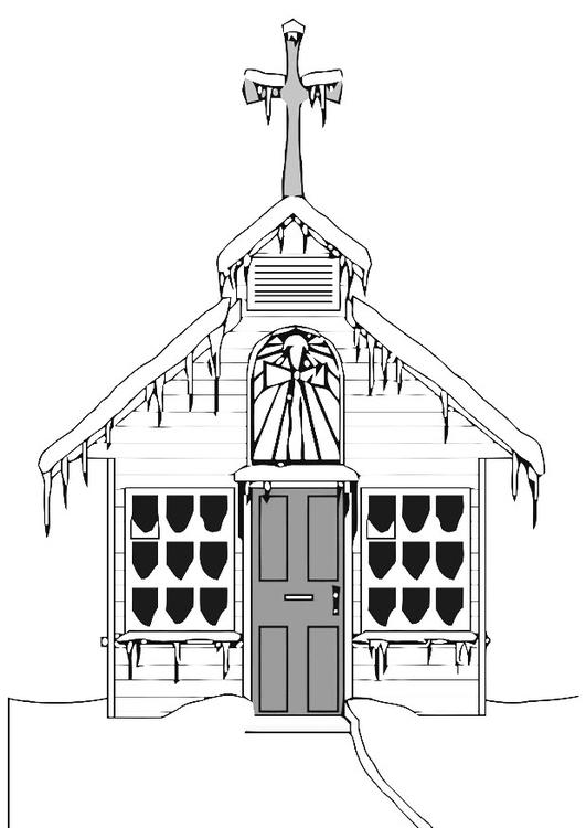 Igreja Para Colorir