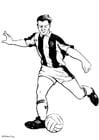 Página para colorir jogador de futebol