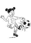 Página para colorir jogar futebol