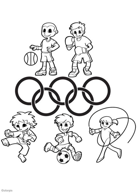 página para colorir jogos olímpicos img 26044