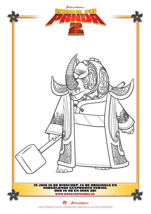 Página para colorir Kung Fu Panda 2 - img 22397.