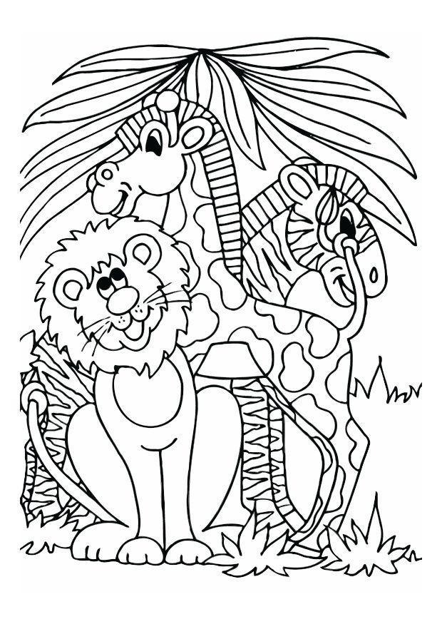 P gina para colorir le o girafa e zebra img 16608 - Toddler libro da colorare ...