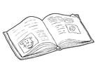 Página para colorir livro - ler (2)