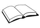 Página para colorir livro
