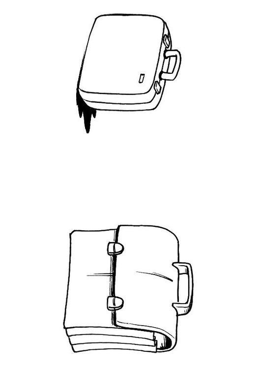página para colorir mala e maleta img 8191