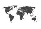 Página para colorir mapa-múndi