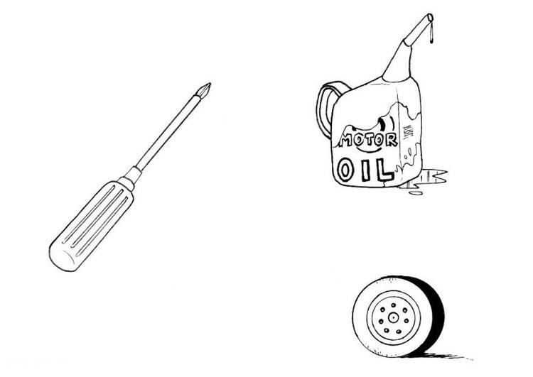 página para colorir material do mecânico img 8157