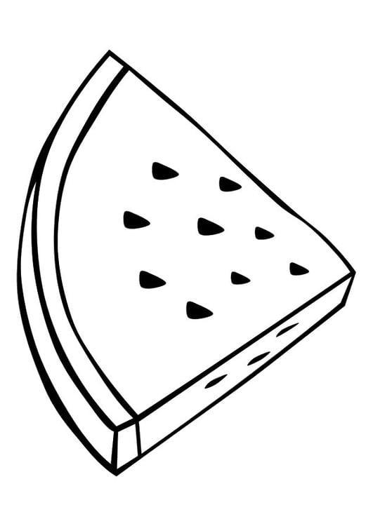 página para colorir melancia img 10373