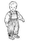 Página para colorir menino