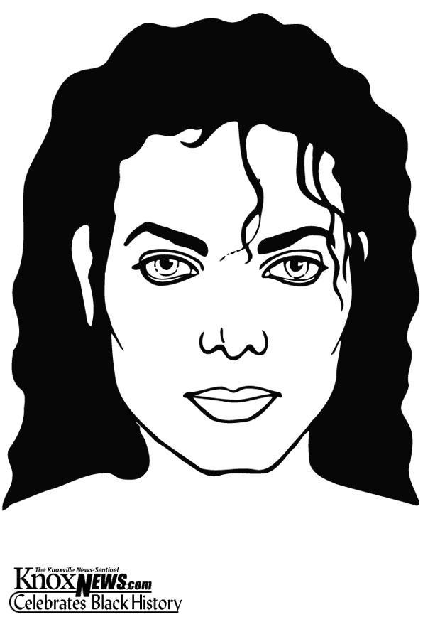 Página para colorir Michael Jackson - img 13329.