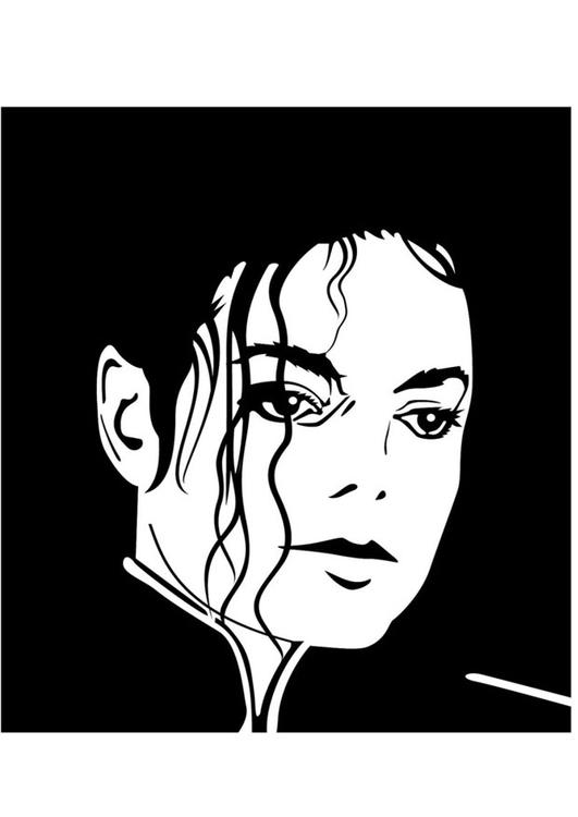 Página para colorir Michael Jackson - img 24732.