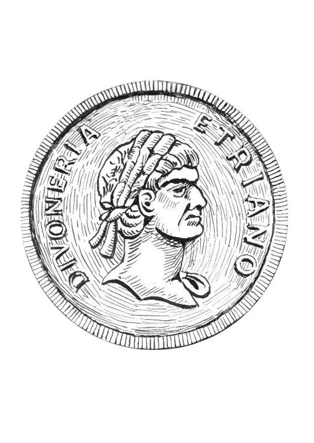 P gina para colorir moeda img 18978 - Lenzuola da colorare romane ...