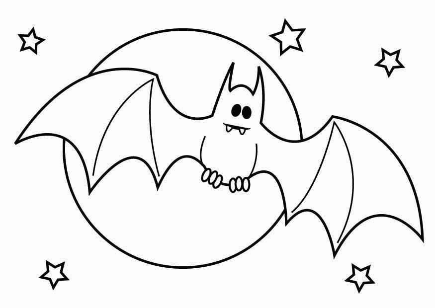 Página Para Colorir Morcego De Halloween
