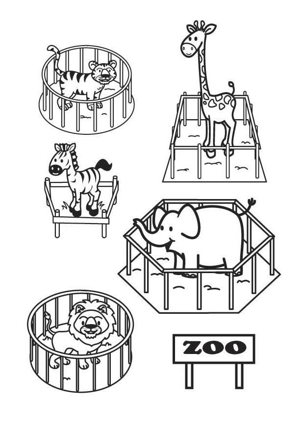P gina para colorir o zool gico