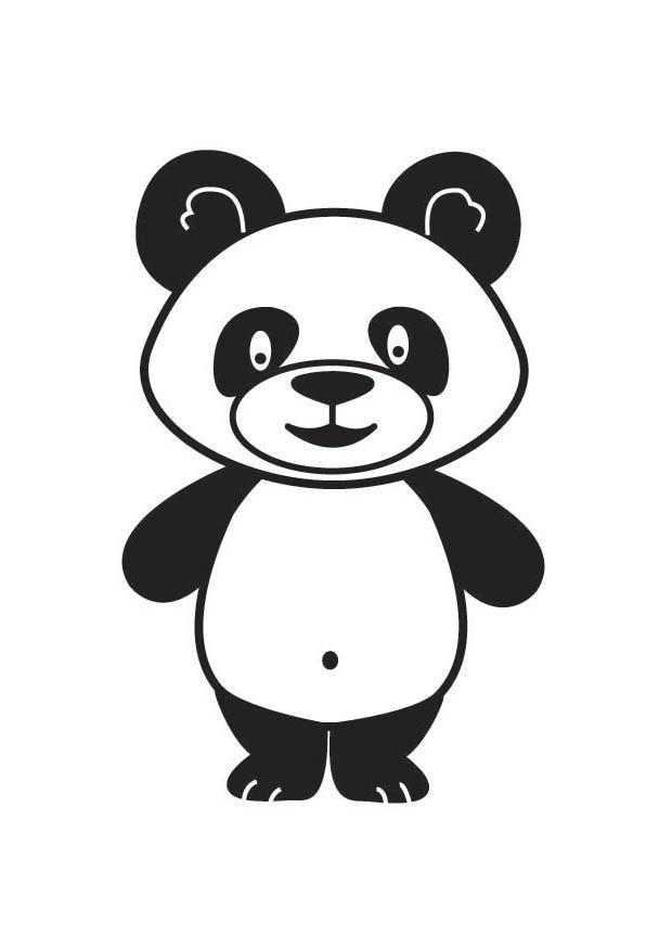 P gina para colorir panda img 17687 - Tete de panda dessin ...