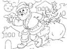 Página para colorir Papai Noel