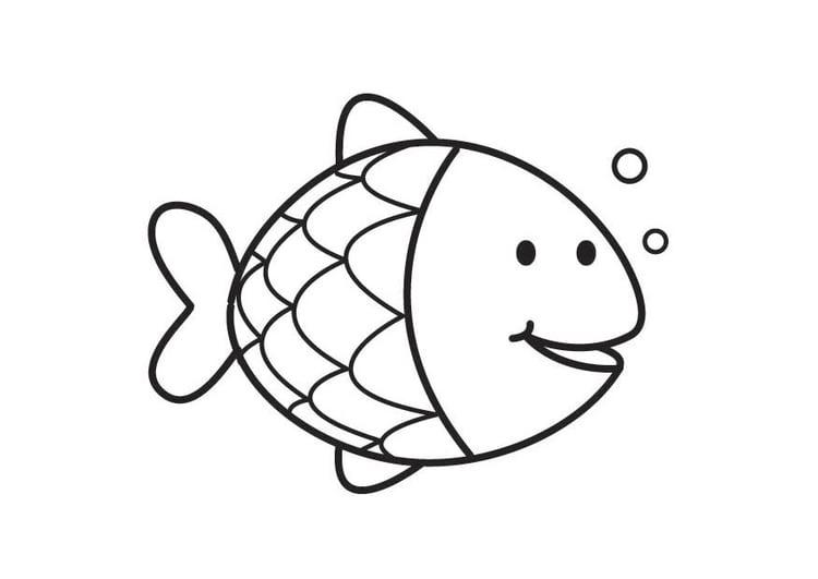 P gina para colorir peixe img 17714 - Pagina di colorazione del pesce ...