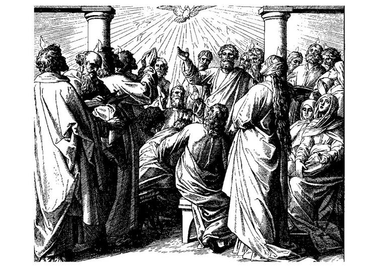página para colorir pentecostes img 22138