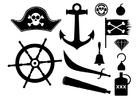 Página para colorir pirata