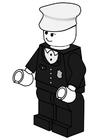 Página para colorir policial