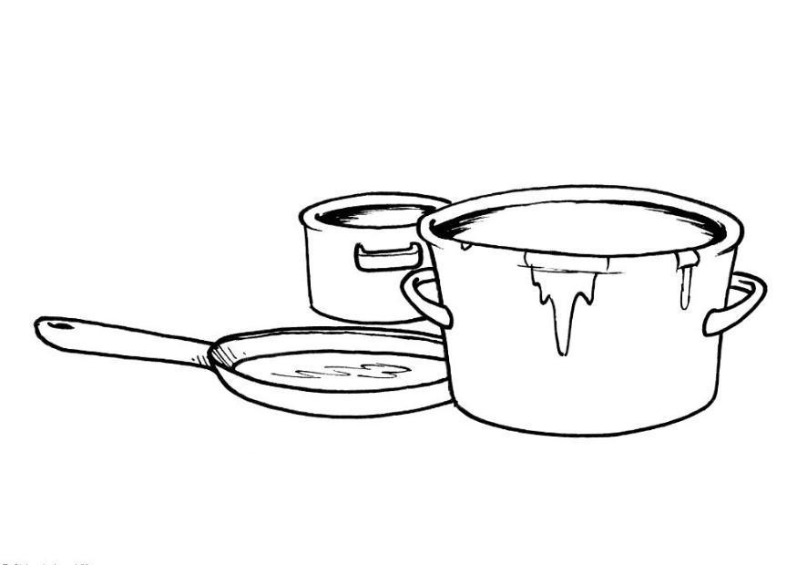 P gina para colorir potes e panelas img 8201 for Koch zeichnen