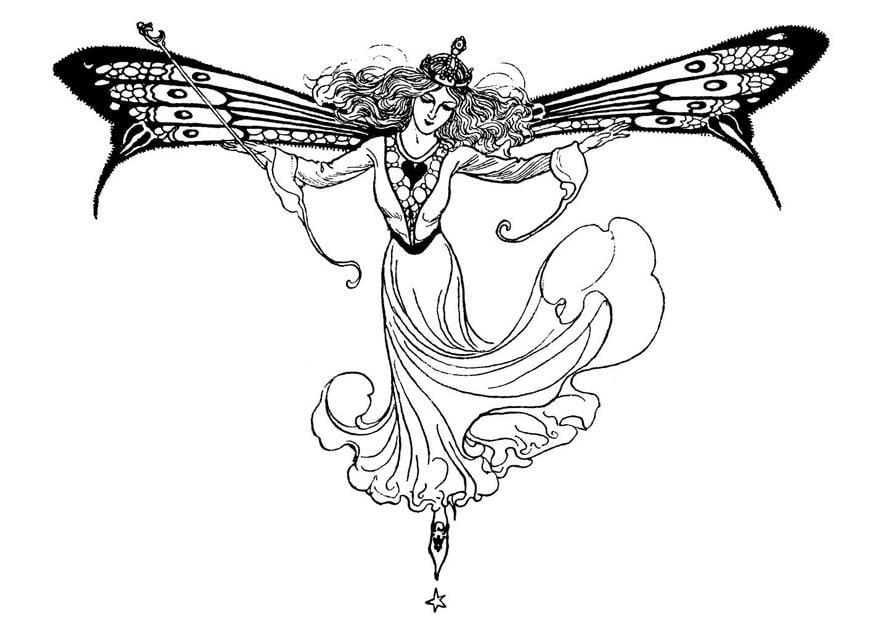 Desenho Para Colorir Rainha Dos Elfos Imagens Gr 225 Tis