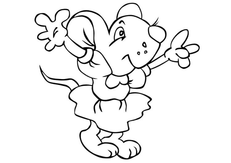 página para colorir ratinha img 10018