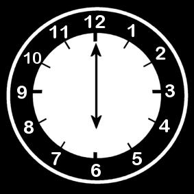 P gina para colorir rel gio 6 horas img 14210 - Mecanismo para reloj de pared ...